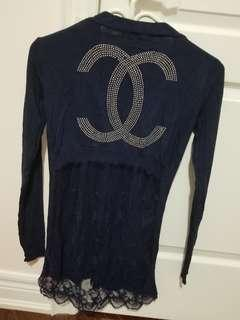 Women's navy blue cardigan