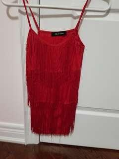 Women's tassel top