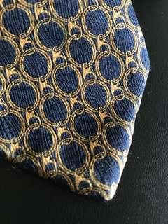 Zegna silk tie - blue and yellow