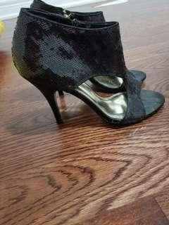 Women's size 8 black sequin heels
