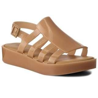 Authentic Melissa Boemia Platform Beige