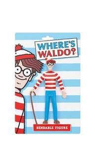 PO: NJ Croce Where's Waldo? Bendable Figure