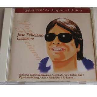 CD JOSE FELICIANO ULTIMATE 19 試音碟 93%NEW LIGHT MY FIRE, CALIFORNIA DREAMING, LA BAMBA, RAIN