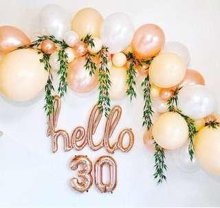 Party backdrop balloons garland