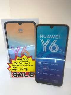 Sealed Huawei Y6 2018 Blue Brand New ATU-L22, Mobile Phones