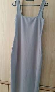Dressing Paula grey long dress