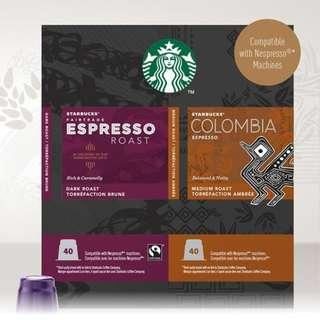 🚚 好市多 Starbucks 80顆膠囊咖啡組  (適用Nespresso咖啡機)星巴克 咖啡飲品 沖泡品 COSTCO代購