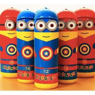 Captain America Minion Water colour markers set