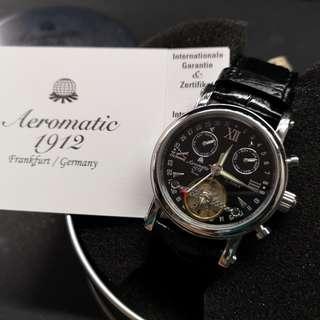 Aeromatic 德國飛行腕錶 (黑面 Openheart - A1421)
