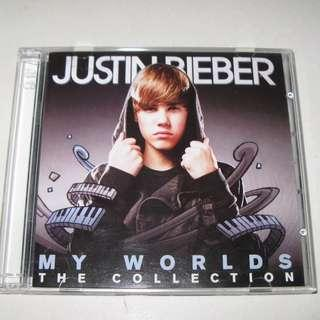 CD JUSTIN BIEBER MY WORLDS THE COLLECTION 雙碟 95%NEW One Time, U Smile, Baby, Pray
