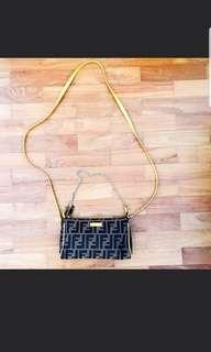 FENDI Monogrammed mini pouch/sling bag(lightly used)