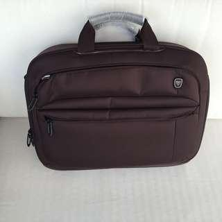 TUMI T-TECH MOVE TOP ZIPPERED PORTFOLIO BRIEFCASE (SPICE BROWN), BRAND NEW  WITH ORG. TAGS