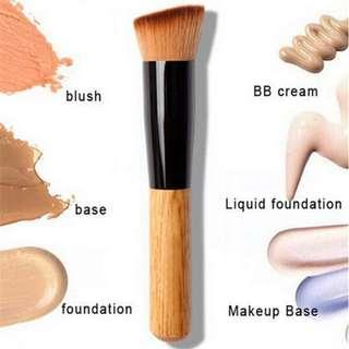 Ready Stock! Professional Foundation Brush Nose Face Powder Contour Brush Makeup Tool head wood handle