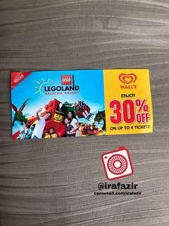 Legoland Tickets 30% Vaucher ( up to 4 tickets )