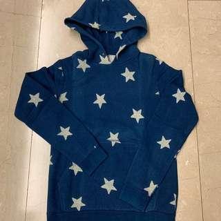 Visvim Natural Dyed Indigo Star Hoodie