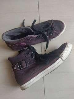 Converse plup purple with stud