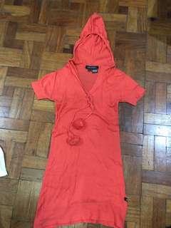 Kids of Bayo orange knitted top with hoodie