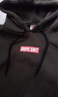 Army green DOPE SHIT hoodie