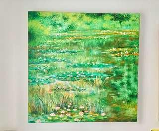 Oil Painting Monet like green art
