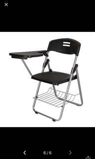 Foldable Chair with writing board / lecture chair instock