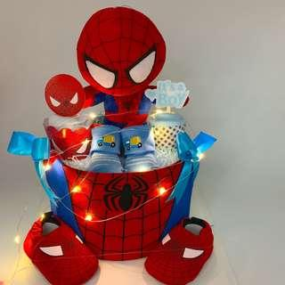 🚚 Ready stock! Spider-Man Diapers Cake