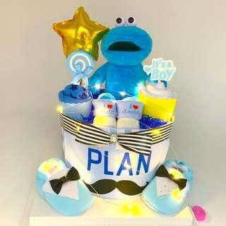 🚚 Cookies Monster Baby Diapers Cake