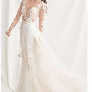 Floral Demure Wedding Dress