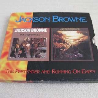 CD JACKSON BROWNE THE PRETENDER AND RUNNING ON EMPTY 雙碟 93%NEW