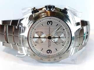 Alpina ~機械自動計時~Automatic chronograph, 約44mm, 香港零售價約二萬元 ,全新 Full set. Ref: 14857