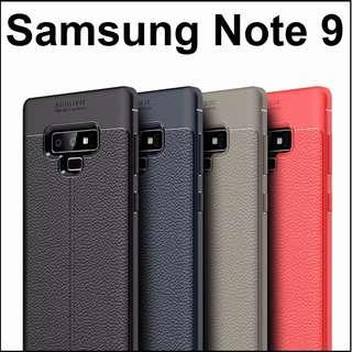 Samsung Galaxy Note 9 Leather Armour Case Casing Cover