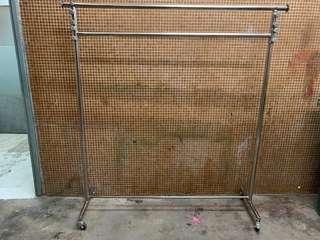 Stainless Steel adjustable double rod garment rack  高身雙層掛衣架