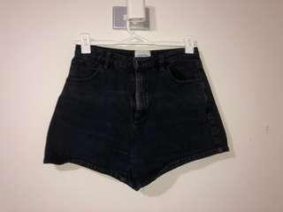 A brand black denim shorts.