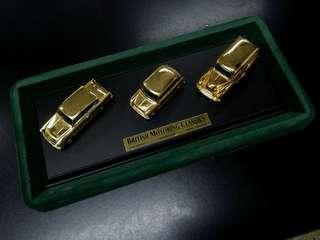 英國製造古董LLEDO汽車玩具Austin Mini Morris Anglia