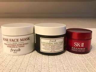 SK-II R.N.A Power (15g) , FRESH Rose Face Mask & Vitamin Nectar Mask