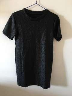 glitter black top basic