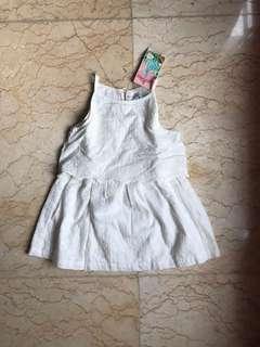 NEW gingersnaps dress gaun anak 24M
