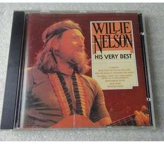 CD WILLIE NELSON THE VERY BEST 舊版 CD MADE IN CANADA 93%NEW BLUE EYES, GEORGIA ON MY MIND, STARDUST