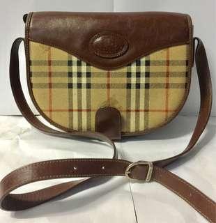 Burberrys checkered slingbag