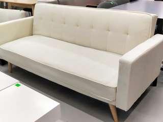 HANNA Sofa Bed in CREAM WHITE