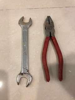 Spanner and plier for sale