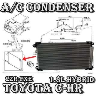 Toyota CHR 1.8L Hybrid 2017 Brand New Air Conditioning Condenser Car Air Con Workshop Services and Repair