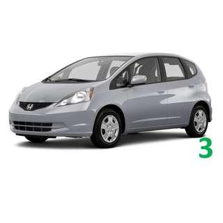 $200 Weekend Car Rental Honda Jazz / Fit