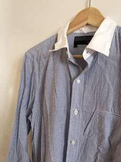 🚚 Men's blue striped button shirt from The Kooples