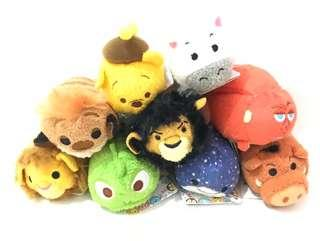 9 Disney Tsum Tsum Mini Plushies - Set of 9