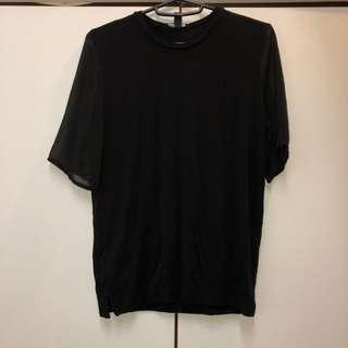 Mango Suit Knit Tee with Translucent Sleeves