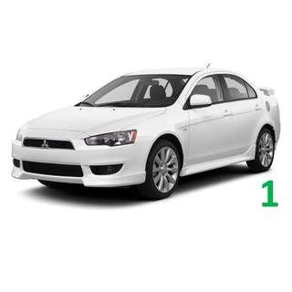 $230 Weekend Car Rental Mitsubishi Lancer EX