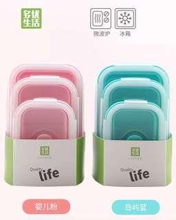 ☘️ 環保密封伸縮餐盒(一套三個)☘️ 現貨✨