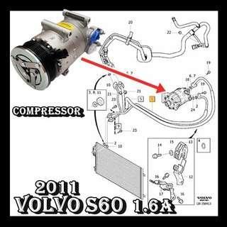 Volvo S60 2011- 1.6 T4 Volvo S80 2011- 1.6 T4 Volvo V60 2012- 1.6 T4 Visteon Compressor  Car Air Con Workshop Services and Repair