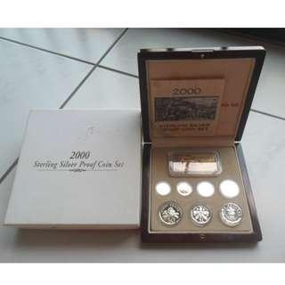 2000 Singapore Silver Proof Coin Set (1¢ - $5 Coin )