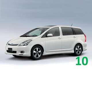 1 Week Contract Toyota Wish $420